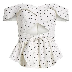 WAYF Capri Cutout Polka Dot Top  - S